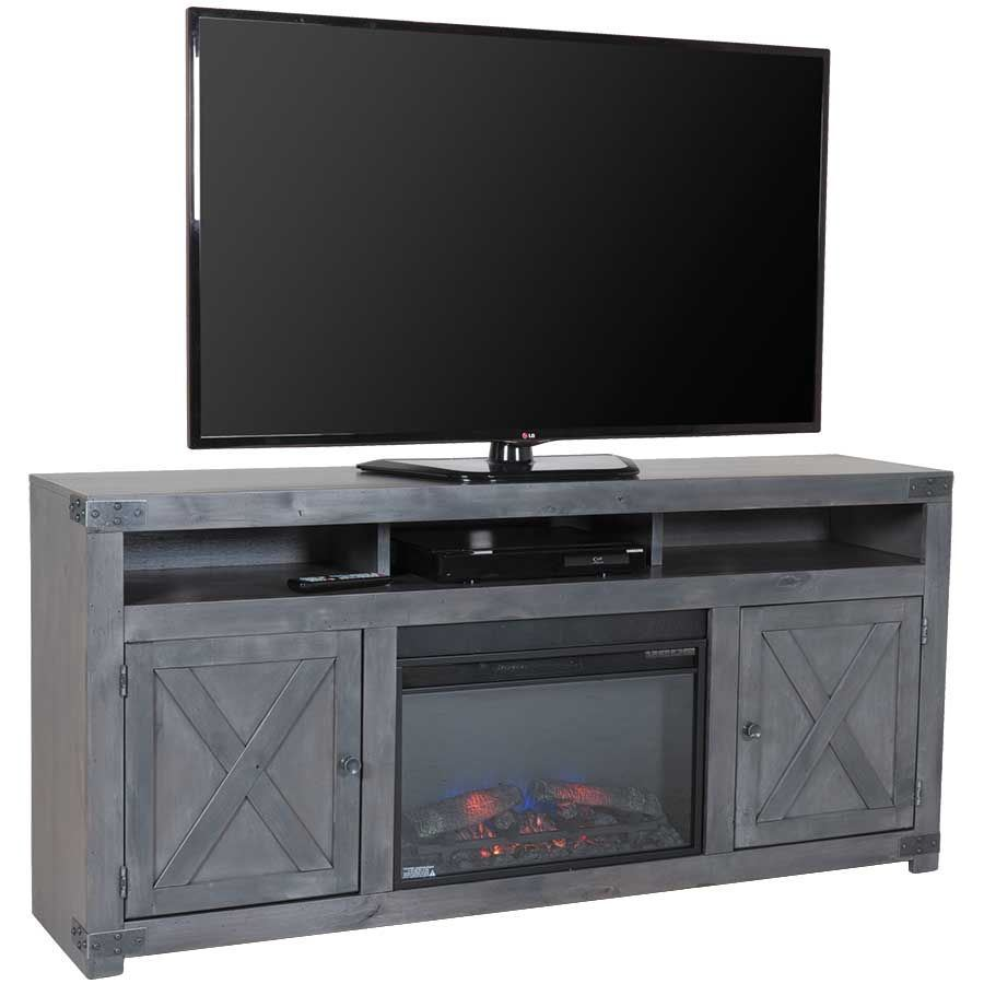 "URBAN FARMHOUSE 72"" FIREPLACE IN SMOKY GREY"
